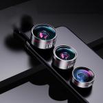 Wide Angle + Macro + Fisheye Mobile Phone Lens Professional Shooting External HD Camera Set