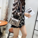 21P808  Portable Messenger Shoulder Bag Fashion All-Match Messenger Bag(Bronze)