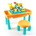 Multifunctional Building Table Learning Toy Puzzle Assembling Toy For Children, Style: Table + Chair + 101 Blocks