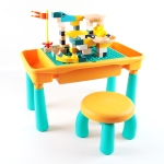 Multifunctional Building Table Learning Toy Puzzle Assembling Toy For Children, Style: Table + Chair + 83 Blocks