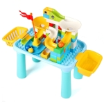 Multifunctional Building Table Learning Toy Puzzle Assembling Toy For Children, Style: Small Table + 76 Blocks