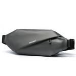 WEIXIER 8641 Men Running Waterproof Waist Bag Multifunctional Chest Bag Sports Leisure One-Shoulder Bag(Dark Gray)