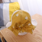 MZ9227 Peach Pattern Children Net Hat Fisherman Hat Baby Sunscreen Sun Hat, Size: 50cm(Yellow)