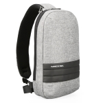 KINGSONS KS3188W Business Casual One-Shoulder Bag Large Capacity Anti-Theft Chest Bag(Light Grey)