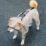 Dog Raincoat Four Foot Waterproof Transparent Reflective Poncho, Size: XS(Matte White)