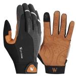 WEST BIKING YP0211197 Full-Finger Shock-Absorbing Anti-Skid Motorcycle Bike Gloves Riding Equipment, Size: XL(Black Yellow)