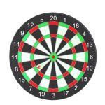 Plastic Magnetic Dart Set Safe Chess And Entertainment Dart Board, Dartboard diameter: 17 Inch 6 Darts