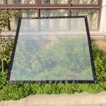 Balcony Windows Transparent Rainproof Cloth Plants Insulation Anti-Bird Thick Windshield, Specification: 1×1.8m Soft Glass