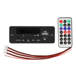 5/12V Folder Play With Power Amplifier MP3 Decoding Board With Recording Call Loss Motherboard With Bluetooth(Black)