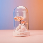 Glass Shade Lamp Cartoon Ornaments Night Light Star Lamp, Colour: Glass Cover Light Pink