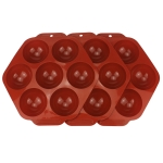 3 PCS Semicircle Silicone Cake Mold Chocolate Bomb Mold(Coffee)