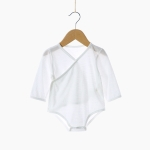 Newborn Baby Belly Protection Triangle Jumpsuit (Color:Beige Size:90)