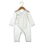 Newborn Baby Long-sleeved Jumpsuit (Color:Beige Size:66)