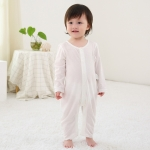 Baby Bamboo Fiber Long-sleeved Bodysuit (Color:Beige Size:66)