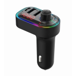 C12 Multifunctional Car Dual USB Charger Bluetooth FM Transmitter with Atmosphere Light