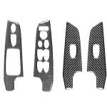 4 in 1 Car Carbon Fiber Glass Lift Panel Decorative Sticker for Honda Civic 8th Generation 2006-2011, Right Drive
