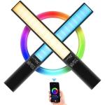 LUXCeO P6 RGB Colorful Photo LED Stick Video Light Handheld APP Control Full Color LED Fill Light (Black)