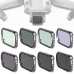 JSR KS 8 in 1 UV + CPL + ND8 + ND16 + ND32 + ND64 + STAR + NIGHT Lens Filter for DJI Air 2S, Aluminum Frame