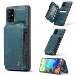 For Samsung Galaxy A71 4G CaseMe C20 Multifunctional PC + TPU Protective Case with Holder & Card Slot & Wallet(Blue)