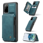 For Samsung Galaxy S20+ CaseMe C20 Multifunctional PC + TPU Protective Case with Holder & Card Slot & Wallet(Blue)