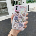 Double Color TPU Pattern Protective Case For iPhone 11(Moon Bear)
