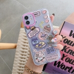 Double Color TPU Pattern Protective Case For iPhone 12 / 12 Pro(Moon Bear)