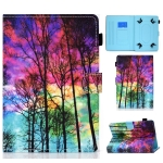 Painted Pattern TPU Horizontal Flip Leather Protective Case For Universal 8 inch(Forest)