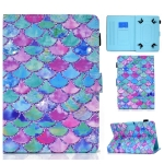 Painted Pattern TPU Horizontal Flip Leather Protective Case For Universal 10 inch(Color Fish Scales)