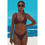 Women Sexy Printed Temptation Bikini, Size:L(Purple)