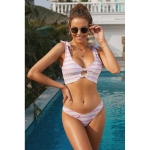 Sexy Printed Resort Hot Spring Swimsuit Two Suit, Size:L