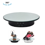 20cm USB Electric Rotating Turntable Display Stand Video Shooting Props Turntable for Photography, Load: 8kg(Black Mirror)