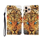 For iPhone 11 Pro Max Painted Pattern Horizontal Flip Leathe Case(Leopard)