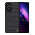 For OnePlus 9 NILLKIN 3D Textured Nylon Fiber PC+TPU Protective Case(Black)