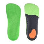 1 Pair 068 Sports Shockproof Massage Arch Of Foot Flatfoot Support Half Insole Shoe-pad, Size:M (255-260mm)(Green Orange)