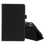 For Lenovo Tab M7 Litchi Texture Solid Color Horizontal Flip Leather Case with Holder & Pen Slot(Black)