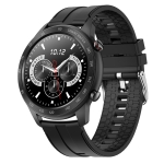 MX5 1.3 inch IPS Screen IP68 Waterproof Smart Watch, Support Bluetooth Call / Heart Rate Monitoring / Sleep Monitoring, Style: Silicone Strap(Black)