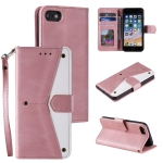 Stitching Calf Texture Horizontal Flip Leather Case with Holder & Card Slots & Wallet For iPhone SE 2020 / 8 / 7(Rose Gold)