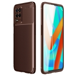 For OPPO Realme V13 5G Carbon Fiber Texture Shockproof TPU Case(Brown)