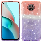 For Xiaomi Redmi Note 9 5G Gradient Glitter Powder Shockproof TPU Protective Case(Orange Purple)