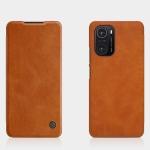 For Xiaomi Redmi K40 / K40 Pro / K40 Pro+ / Mi 11 / Poco F3 NILLKIN QIN Series Crazy Horse Texture Horizontal Flip Leather Case with Card Slot(Brown)