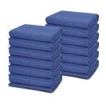 [US Warehouse] 12 PCS Non-woven Cotton Wavy Stripes Furniture Moving Blanket, Size: 183x203cm (Blue)