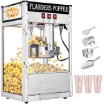 [US Warehouse] 120V-60Hz 850W 8oz Single Door Large Capacity Retro Popcorn Machine, Size: 43.6x37x58.8cm