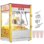 [US Warehouse] 120V-60HZ 850W 8oz Double Door Large Capacity Retro Popcorn Machine, Size: 52x45x62cm