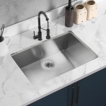 [US Warehouse] Stainless Steel Single Bowl Kitchen Sink, Size: 30 x 19 x 9 inch