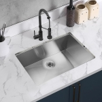 [US Warehouse] Stainless Steel Single Bowl Kitchen Sink, Size: 30 x 18 x 9 inch
