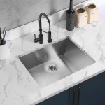 [US Warehouse] Stainless Steel Single Bowl Kitchen Sink, Size: 28 x 19 x 9 inch
