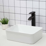 [US Warehouse] Ceramic Basin Single Bowl Hand Wash Bathroom Basin, Size: 19 x 15 x 6 inch