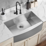 [US Warehouse] Stainless Steel Single Bowl Kitchen Sink, Size: 33 x 20.75 x 9 inch