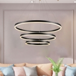 [US Warehouse] DIY Modern Pendant Light Warm White LED Chandelier, Lumens: 5250LM