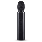 K6 Bluetooth 4.2 Karaoke Live Stereo Sound Wireless Bluetooth Condenser Microphone (Black)